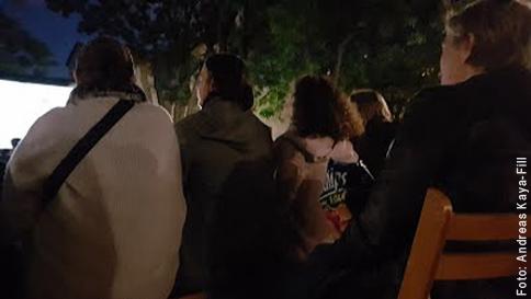 Zuschauer beim Volxkino