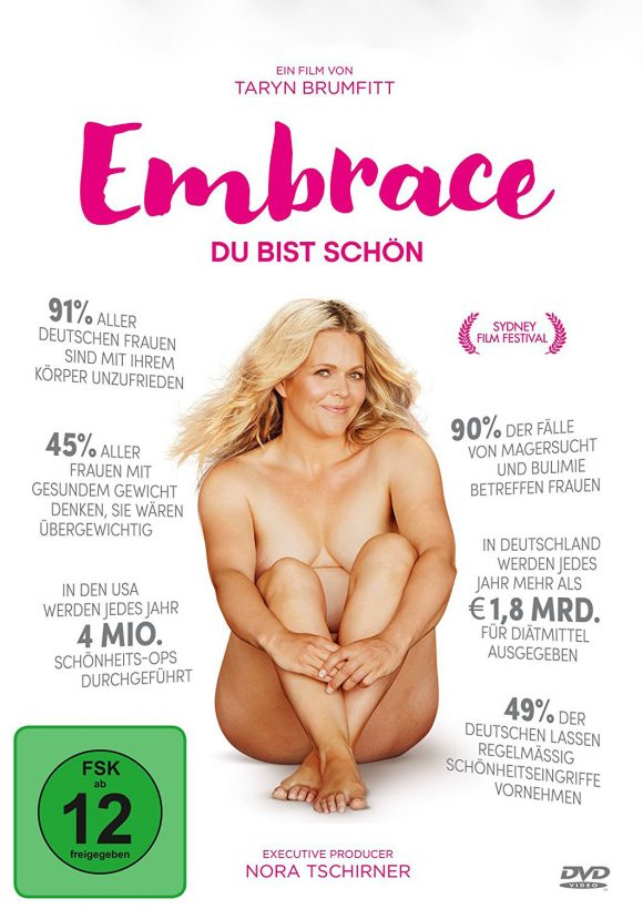 "Filmplakat ""Embrace"" - Dokumentation von Taryn Brumfitt"
