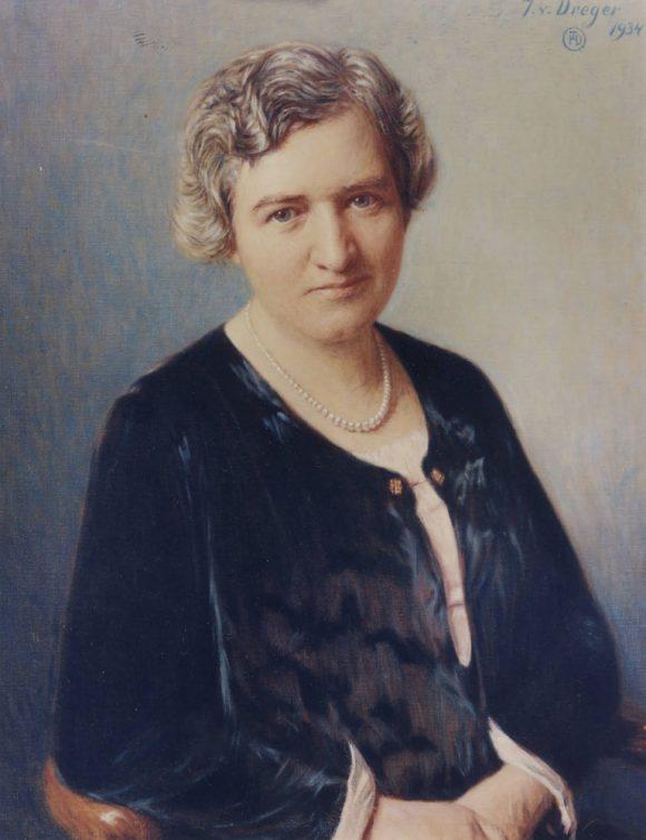 Ölgemälde Hildegard Burjan 1934 - J. v. Dreger