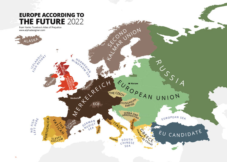 Maps of prejudice - Europe according to the future 2022 - Yanko Tsvetkov