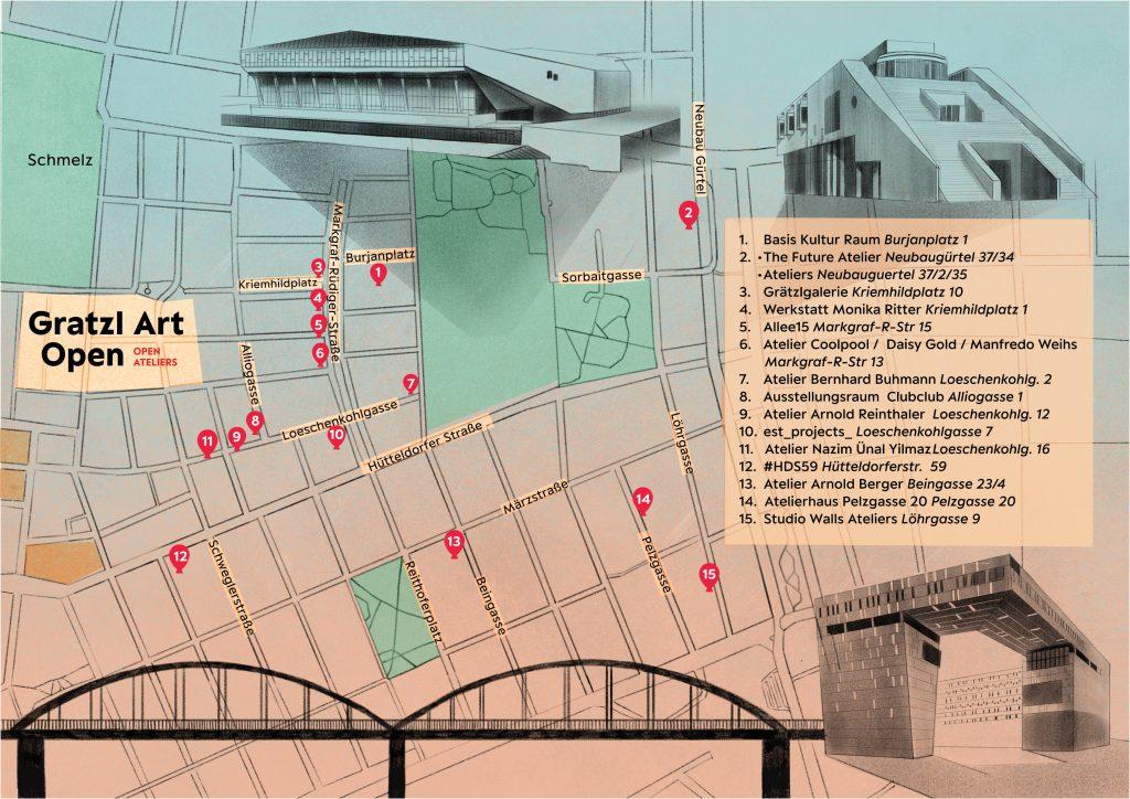 Grätzl Art Open - Karte